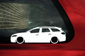 2x LOW Ford Mondeo mk4 estate wagon / Turnier TDCi ,Lowered outline stickers / silhouette Decals